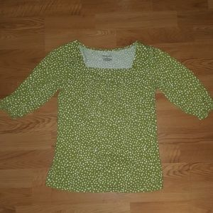 Small 3/4 Sleeve Scpop neck Cotton Top